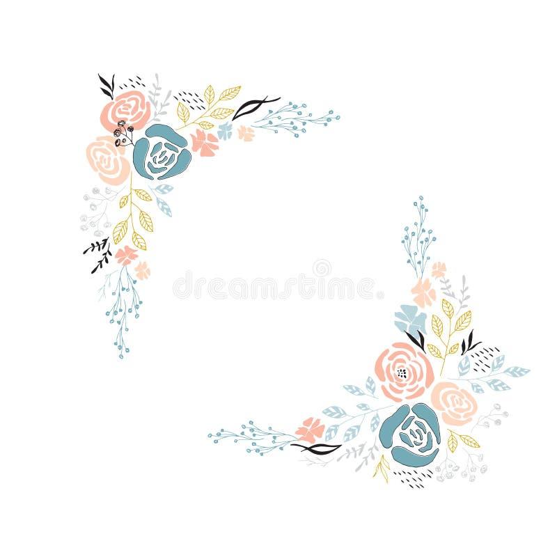 Marco floral del vector stock de ilustración