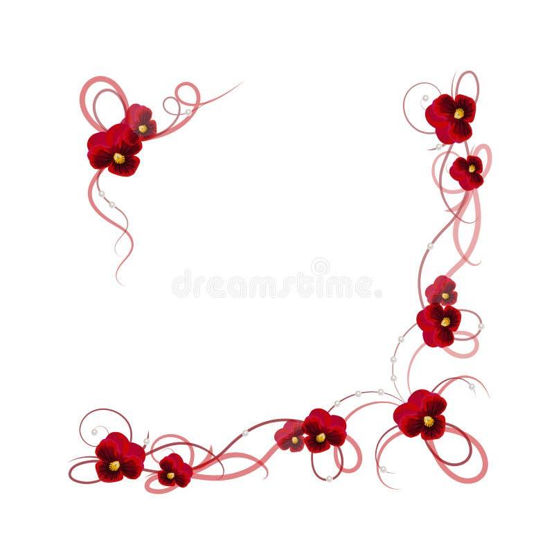 Marco floral del vector ilustración del vector