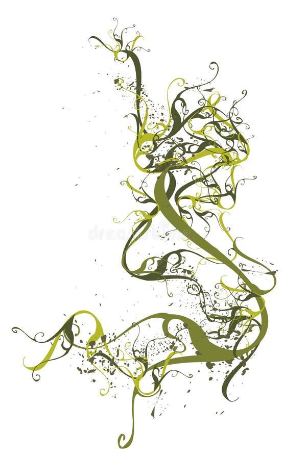 Marco floral del vector abstracto ilustración del vector