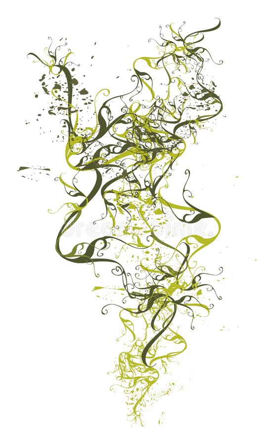 Marco floral del vector abstracto stock de ilustración