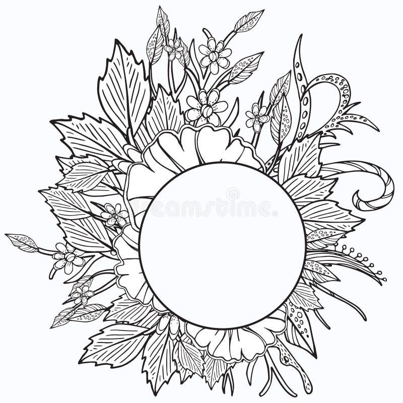 Marco floral Diseño retro étnico libre illustration