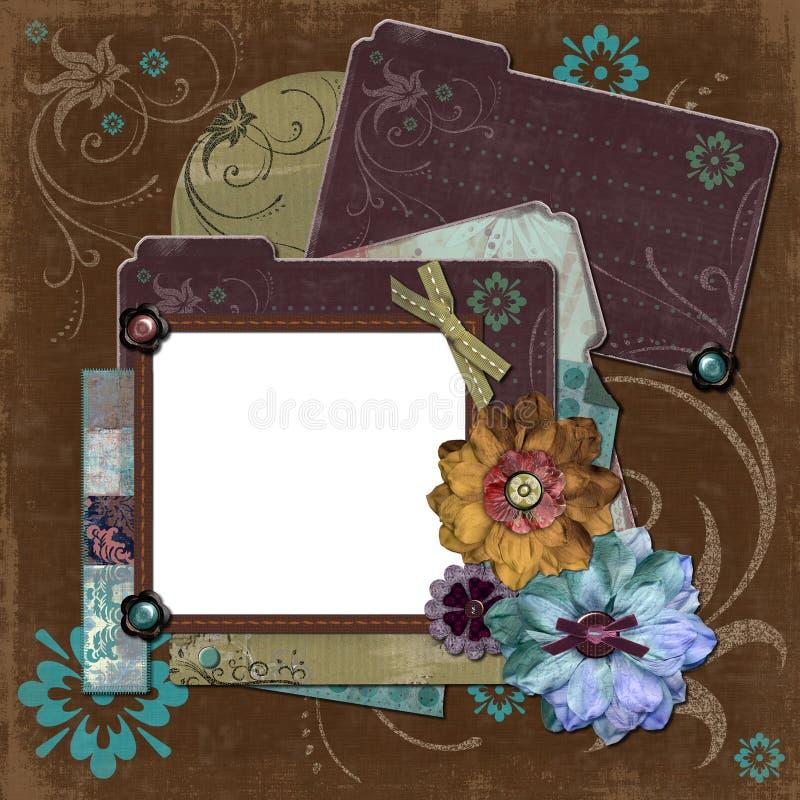 Marco floral gitano bohemio stock de ilustración