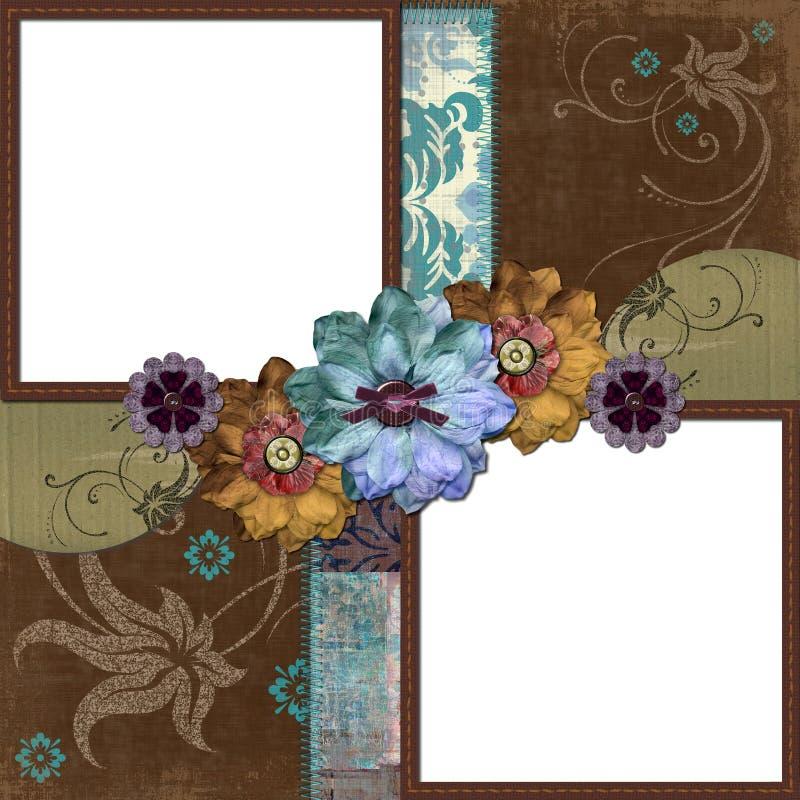 Marco floral gitano bohemio ilustración del vector