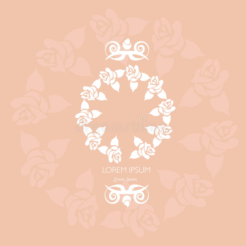 Marco floral hecho en vector stock de ilustración