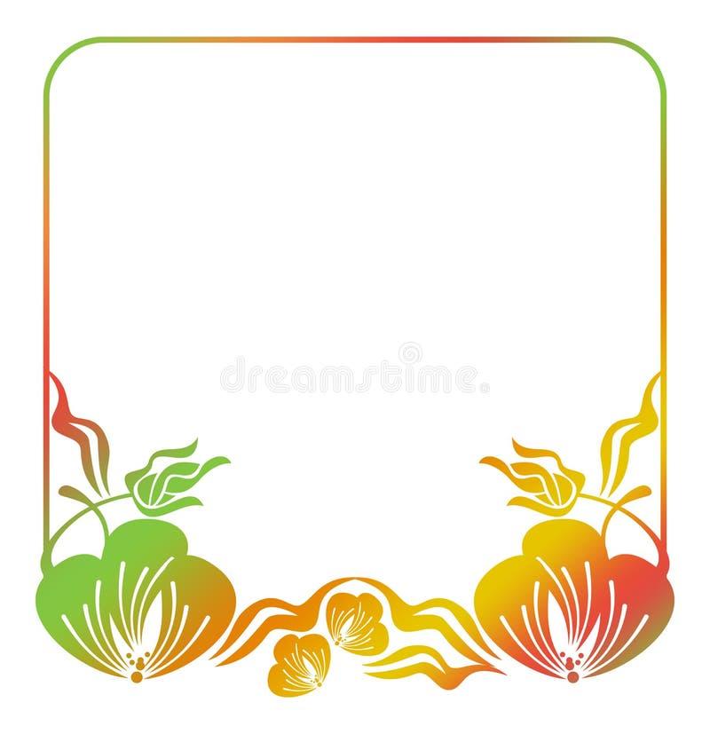 Marco floral hermoso con el terraplén de la pendiente libre illustration