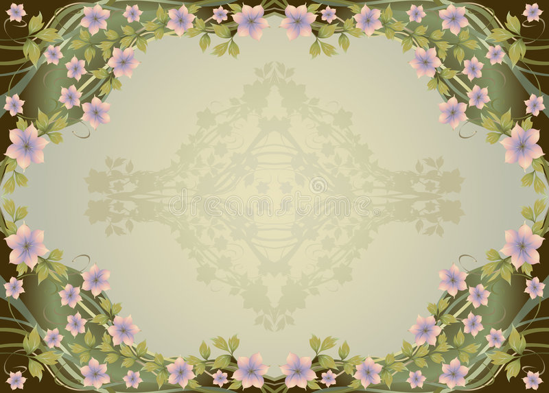 Marco floral ornamental libre illustration