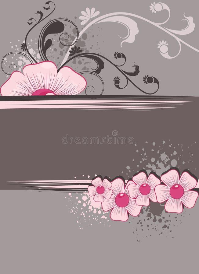 Marco floral para el texto ilustración del vector