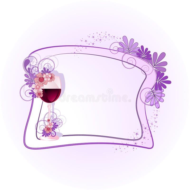 Marco floral para el texto stock de ilustración