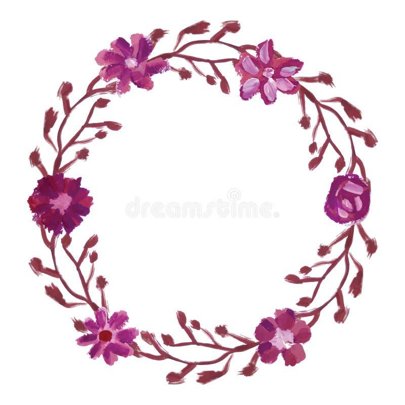 Marco floral redondo ilustración del vector. Ilustración de hoja ...