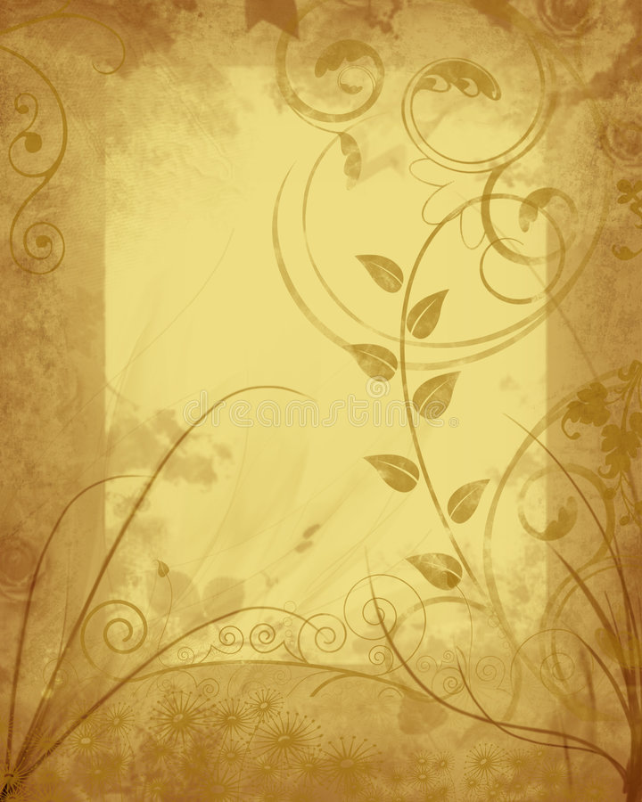 Marco floral sucio ilustración del vector