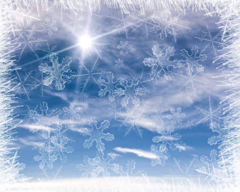 Marco frío del fondo foto de archivo. Imagen de color - 3958138