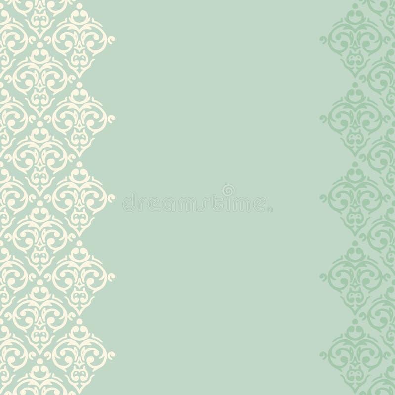Marco/frontera inconsútiles de la turquesa en estilo del damasco libre illustration
