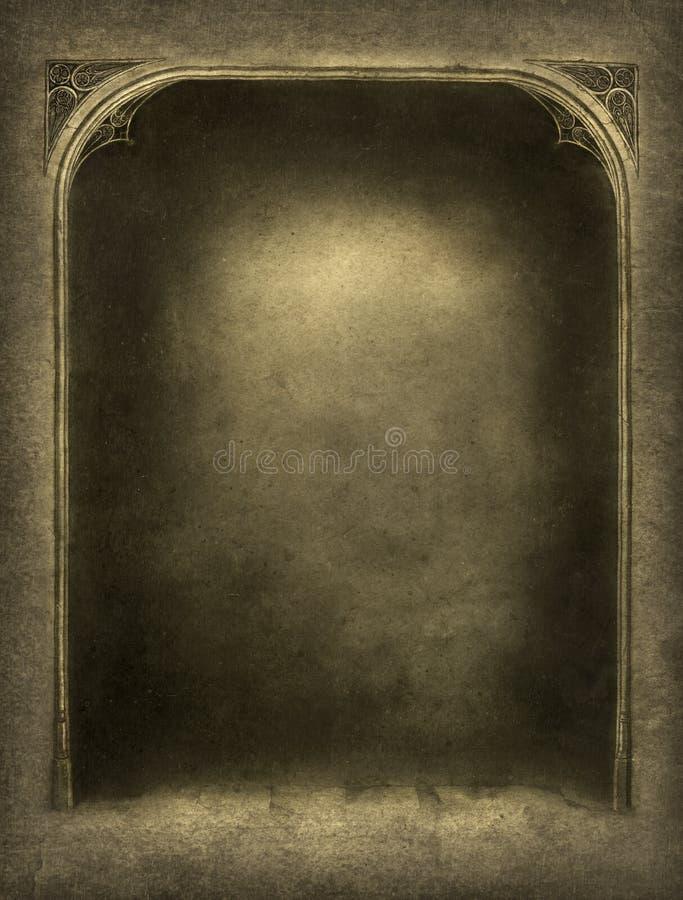 Marco gótico ilustración del vector