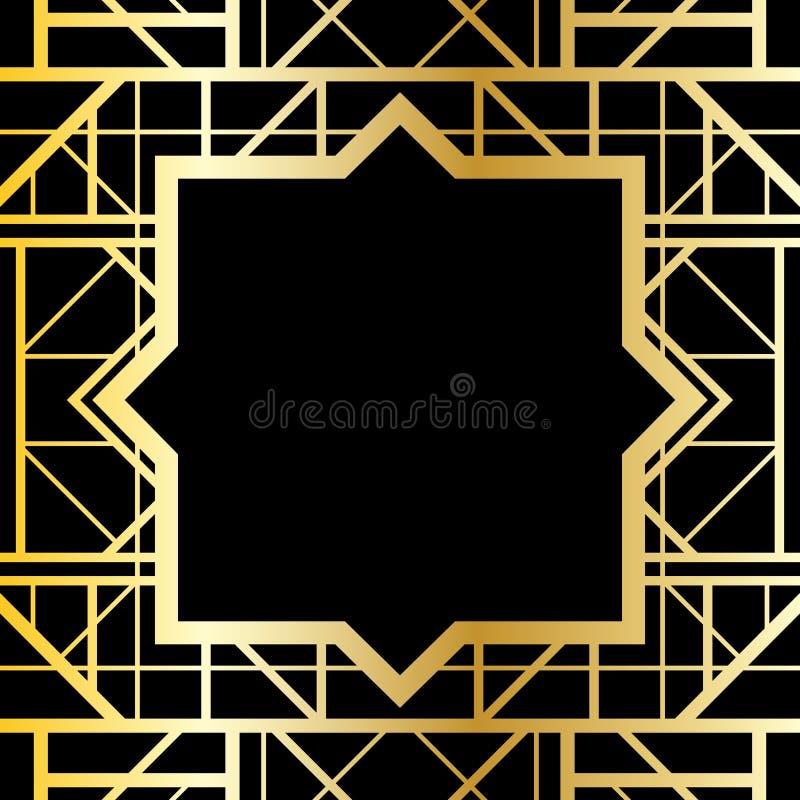 Marco geométrico del art déco stock de ilustración