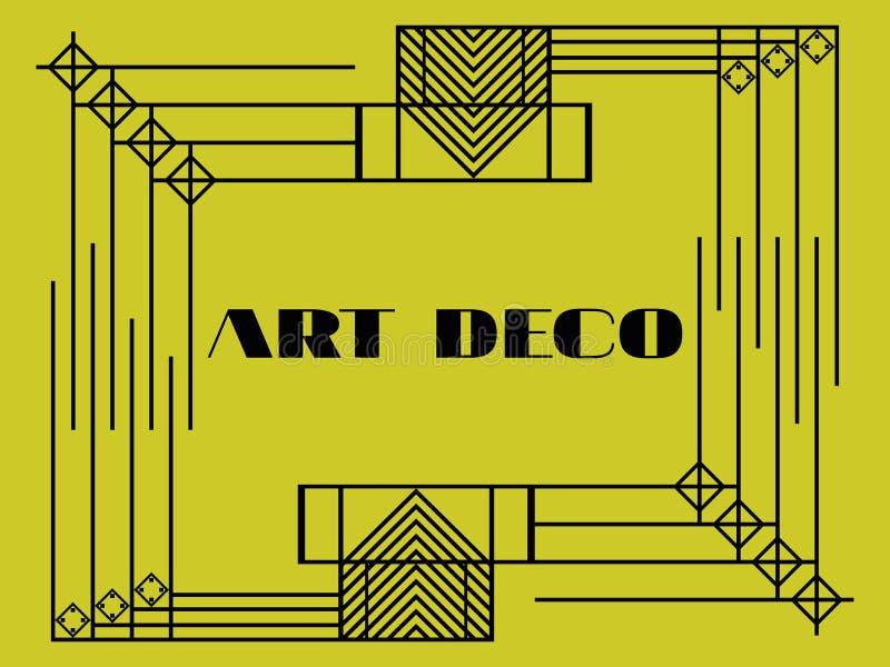 Marco Geométrico Del Art Déco Fondo Retro En Los Años 20 Del Estilo ...