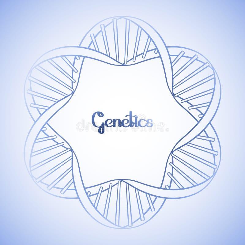 Marco Gráfico Del Círculo De La DNA Ilustración del Vector ...