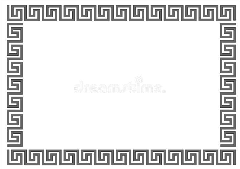 Marco griego. stock de ilustración