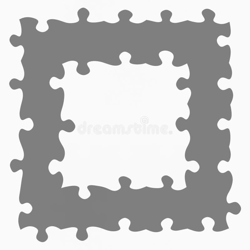 Marco gris de los rompecabezas libre illustration