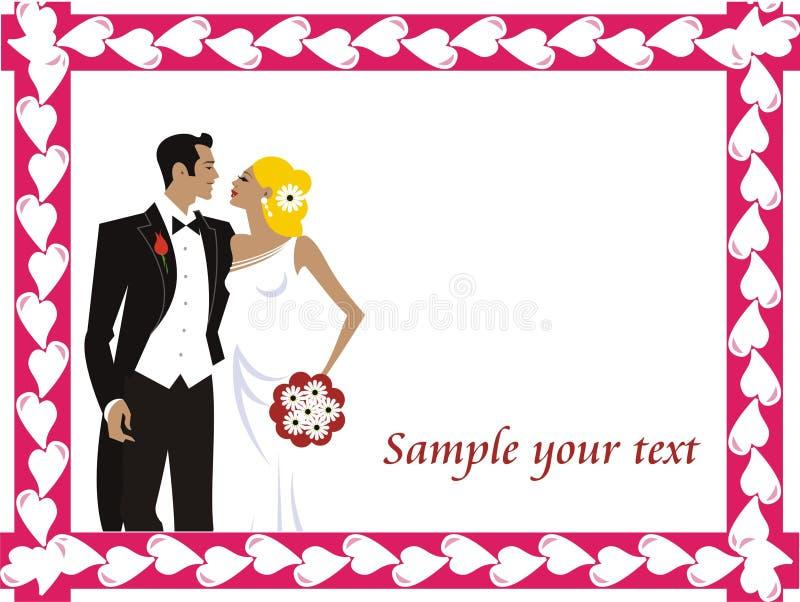 Marco hermoso de la boda stock de ilustración
