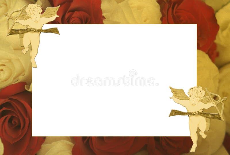 Marco hermoso de la tarjeta del día de San Valentín o del aniversario fotografía de archivo