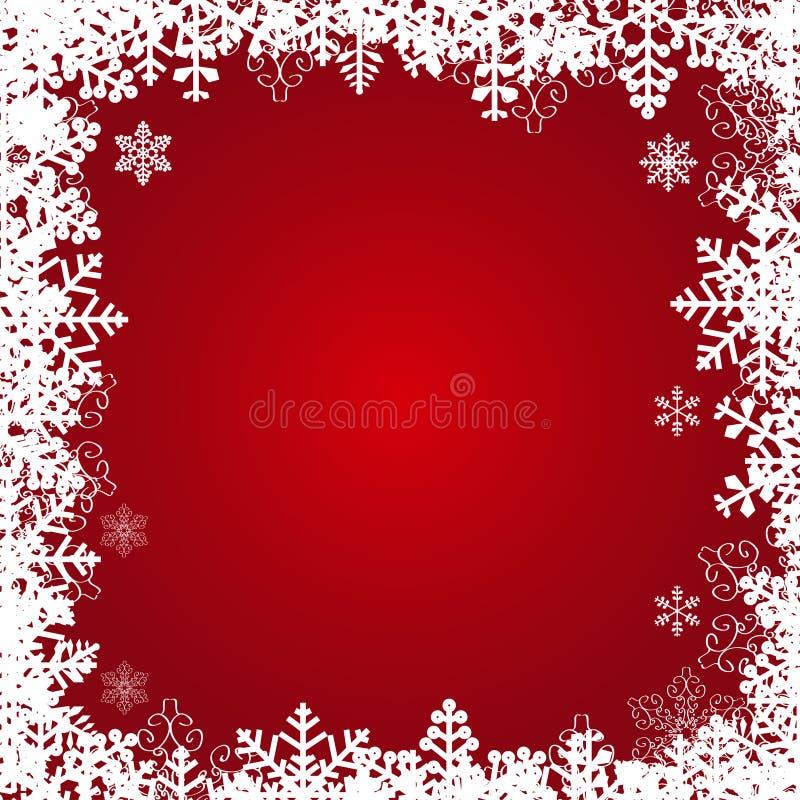 Marco hermoso de los copos de nieve. stock de ilustración