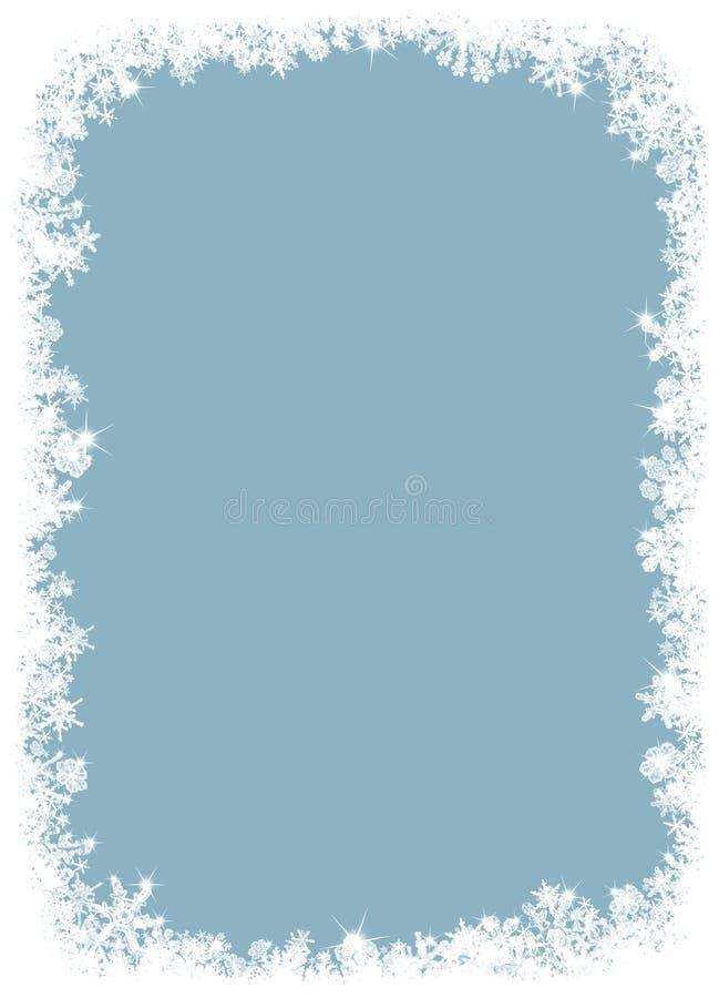 Marco hermoso de los copos de nieve. ilustración del vector