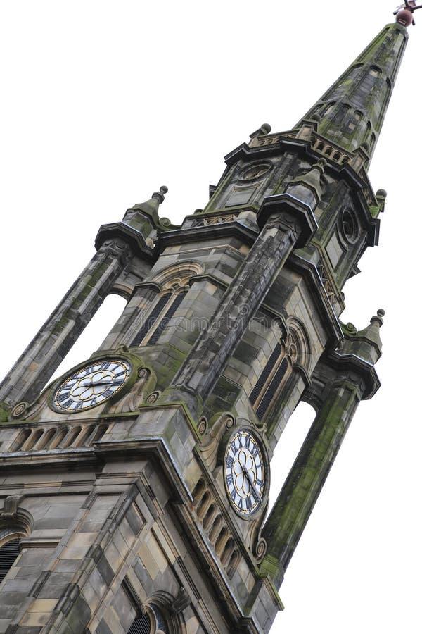 Marco histórico, igreja de Tron na milha real, no coração de Edimburgo, Escócia imagem de stock royalty free