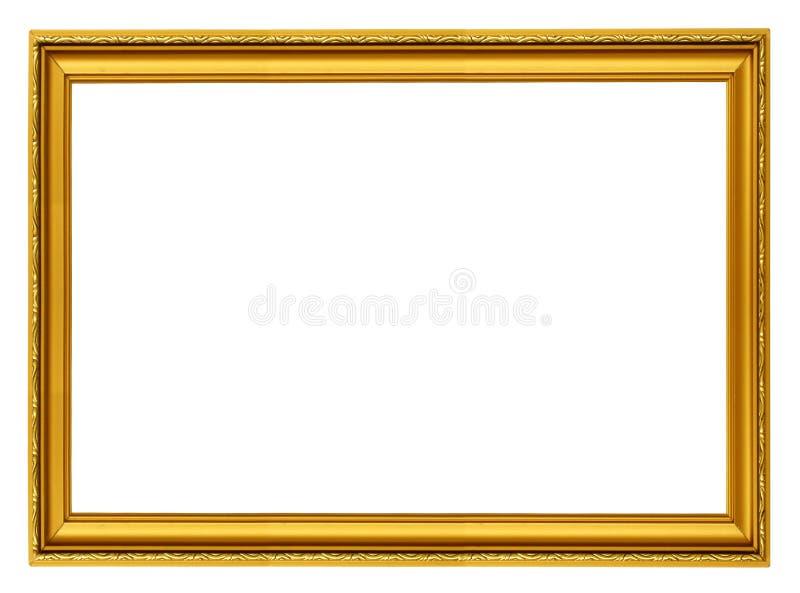 Marco horizontal de oro fotos de archivo