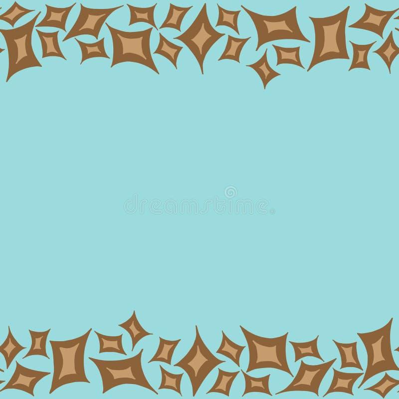 Marco horizontal del modelo con rombos marrones ilustración del vector