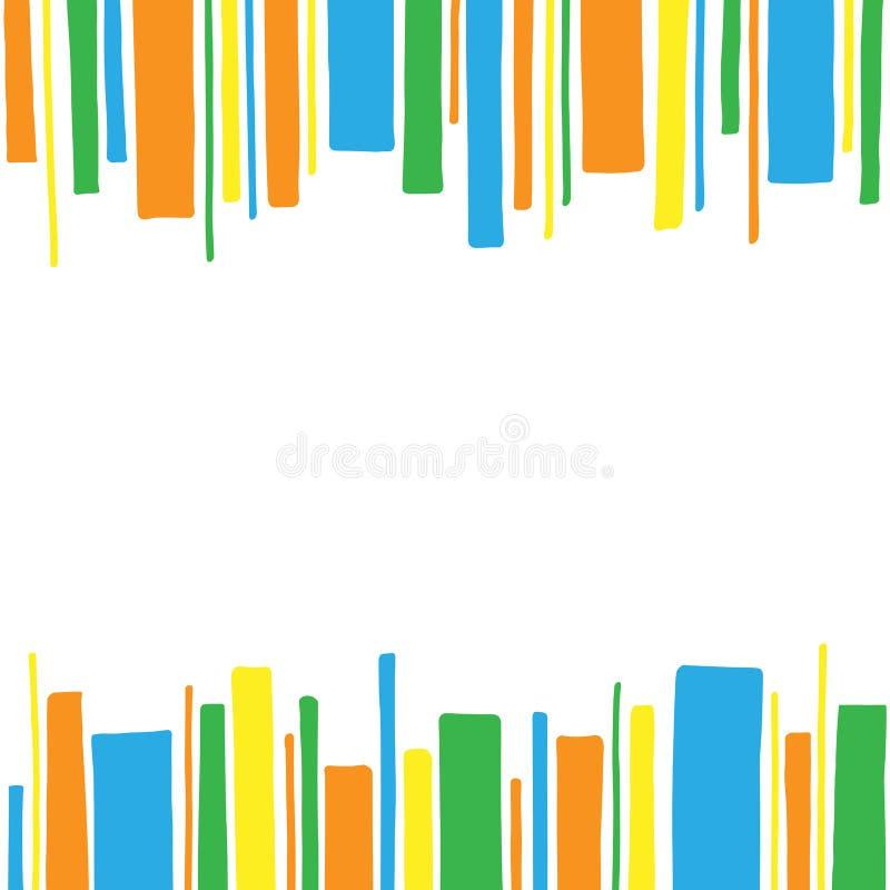 Marco horizontal del modelo de rayas coloreadas ilustración del vector