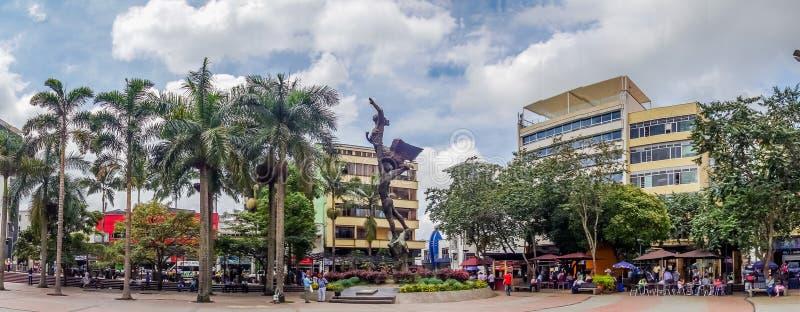 Marco importante da cidade situado no quadrado principal imagem de stock