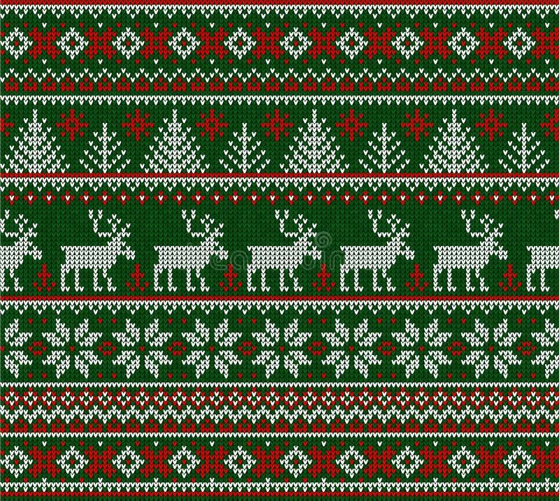 Marco inconsútil feo del modelo de la Feliz Año Nuevo de la Feliz Navidad del suéter imagenes de archivo