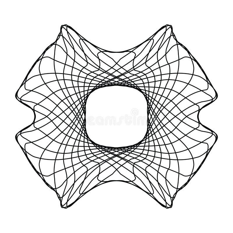 Marco linear inusual de la frontera del extracto aislado en blanco stock de ilustración