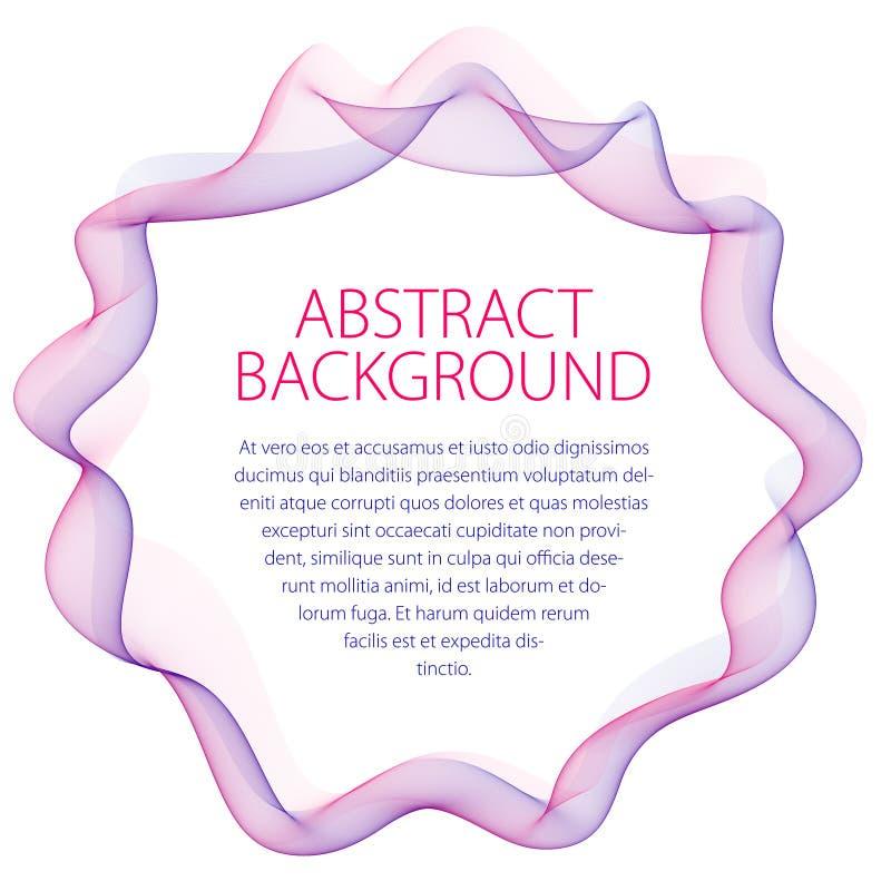 Marco linear liso redondo de líneas onduladas Artisti abstracto del vector libre illustration