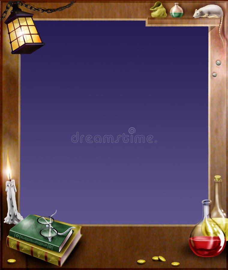 Marco mágico stock de ilustración