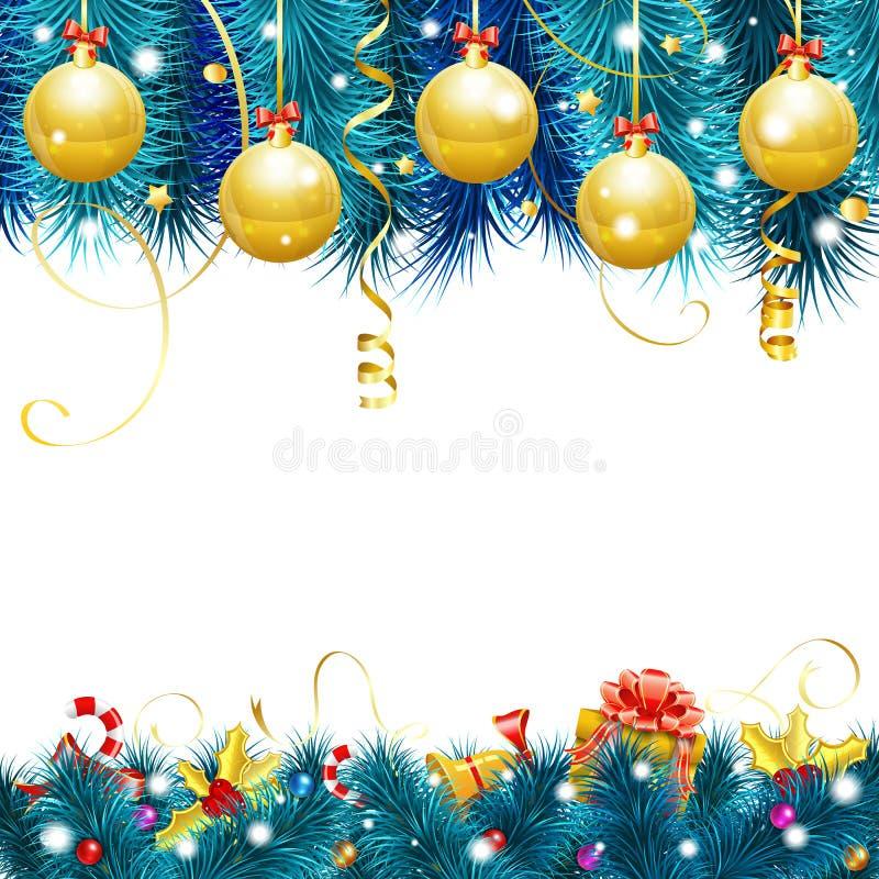 Marco mágico azul de la Navidad ilustración del vector