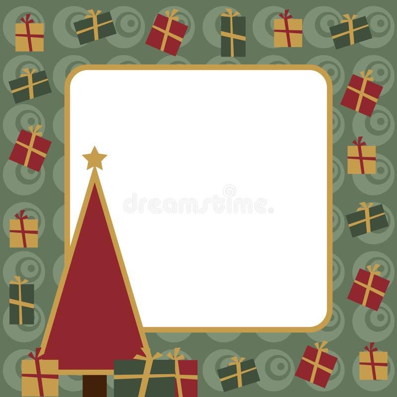Marco mágico azul de la Navidad stock de ilustración