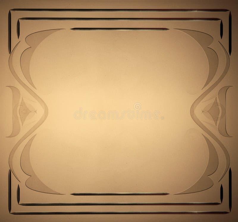 Marco marrón de la textura ilustración del vector