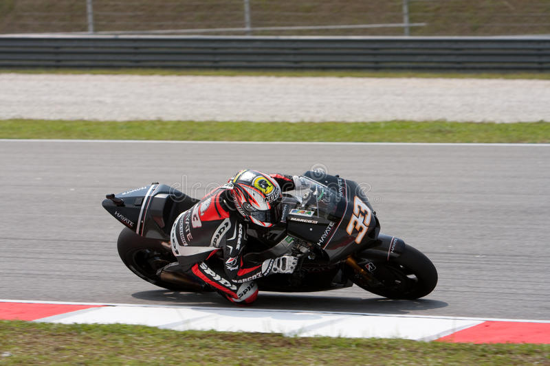 Marco Melandri am ShellMalaysian Motogp stockfotos
