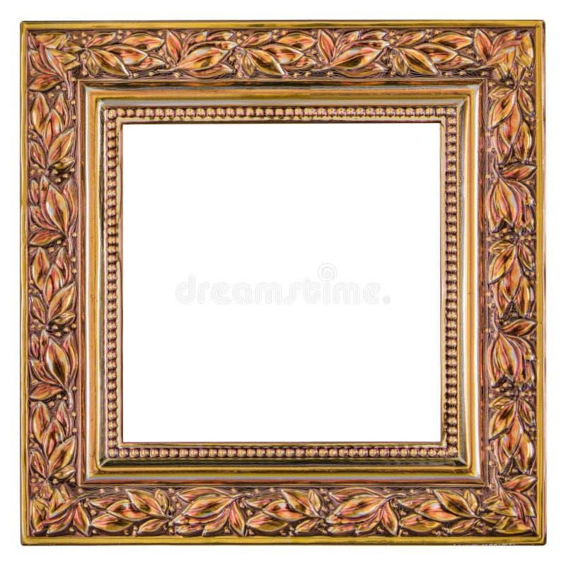 Marco metálico aislado en un fondo blanco foto de archivo