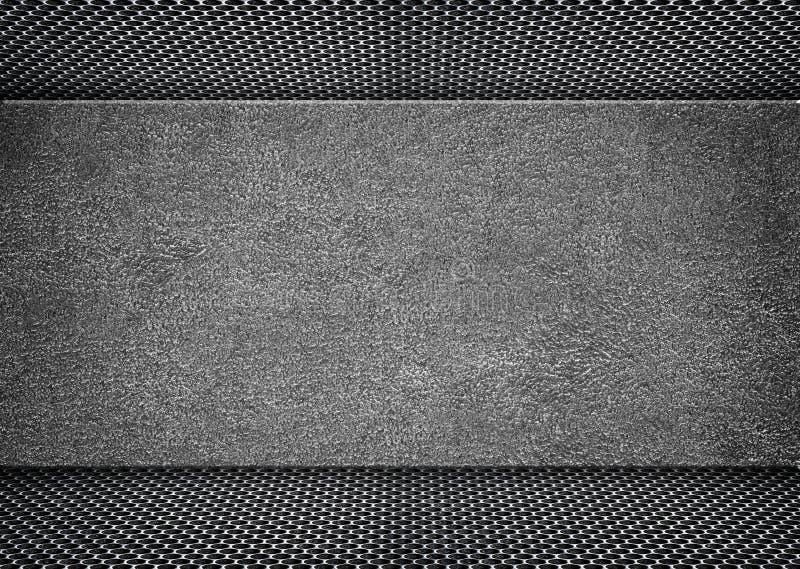 Marco metálico apenado brillante en el fondo del grunge, 3d, illustrat ilustración del vector