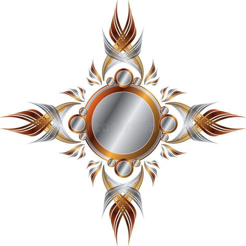 Marco metálico simétrico ilustración del vector