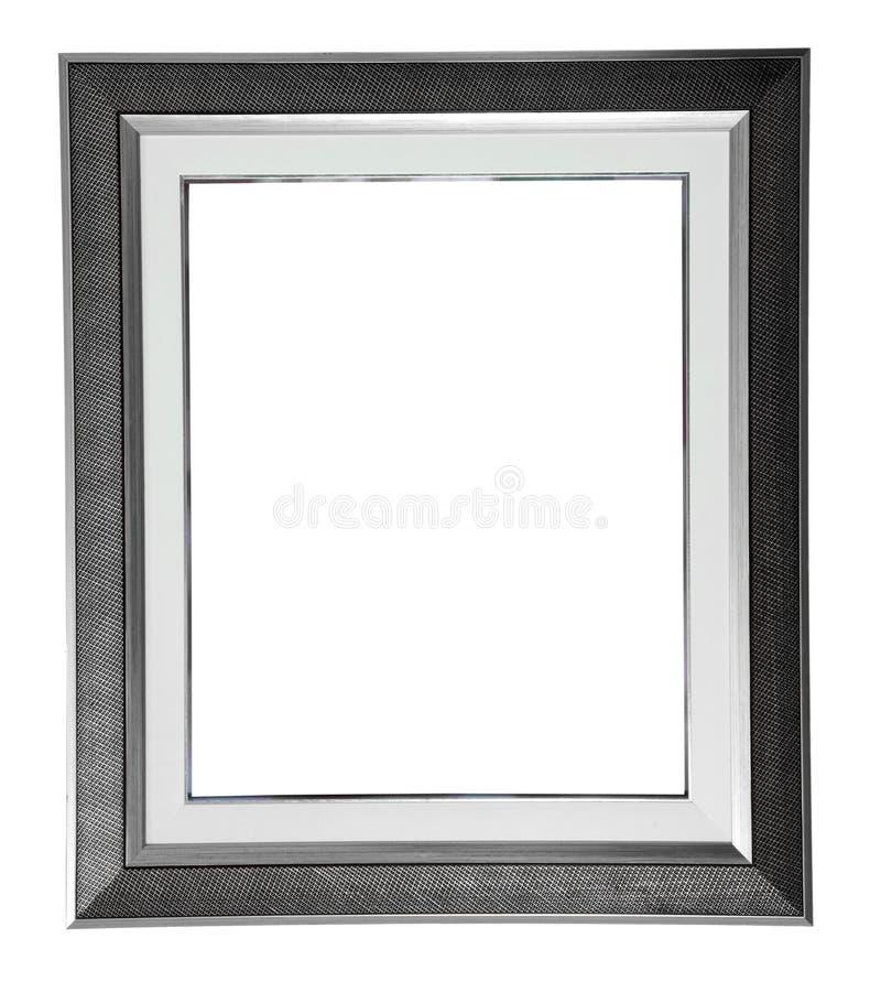 Marco moderno de plata fotos de archivo