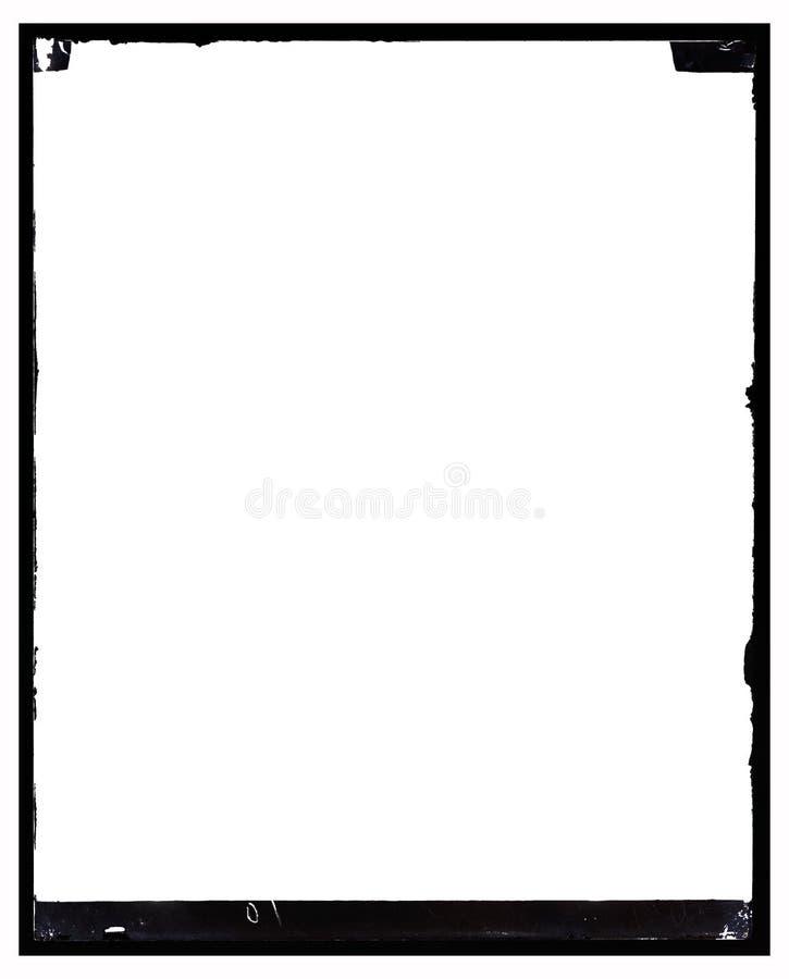 Marco negativo antiguo sucio de la foto ilustración del vector