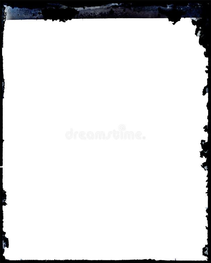 Marco negativo antiguo sucio de la foto stock de ilustración