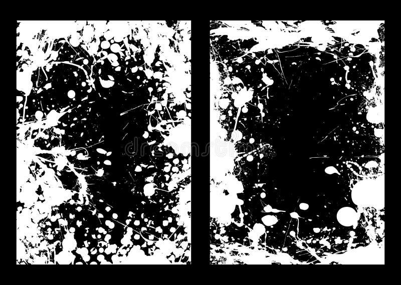 Marco negativo del splat de la tinta ilustración del vector