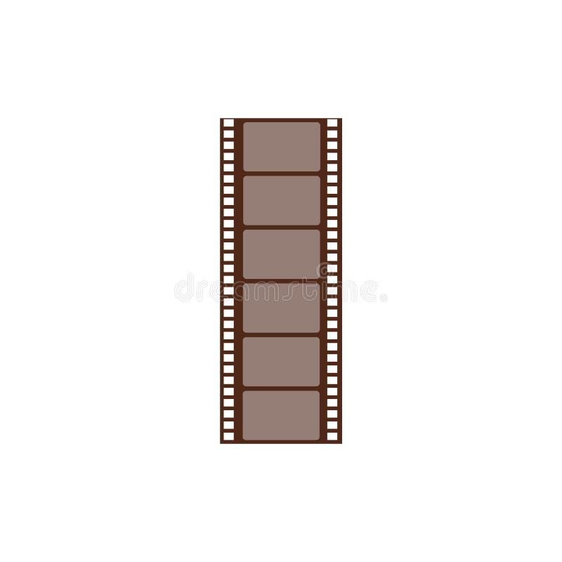 Marco negativo largo, secuencia cortada de la película Tira y imagen de la película para el cine y los medios ilustración del vector
