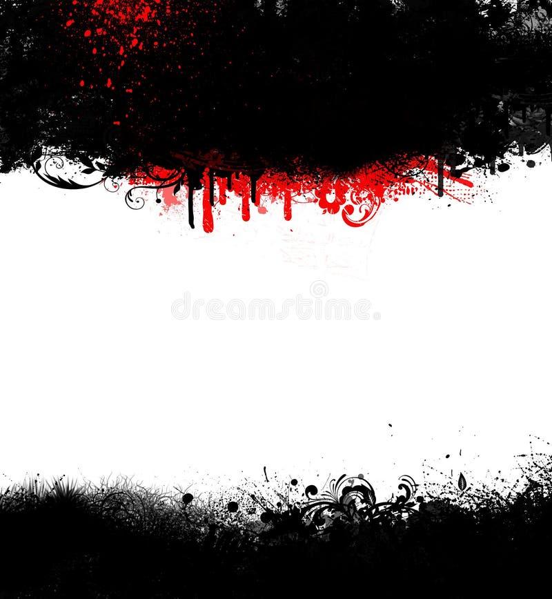 Marco Negro De Grunge Goth Con Sangre Stock de ilustración ...