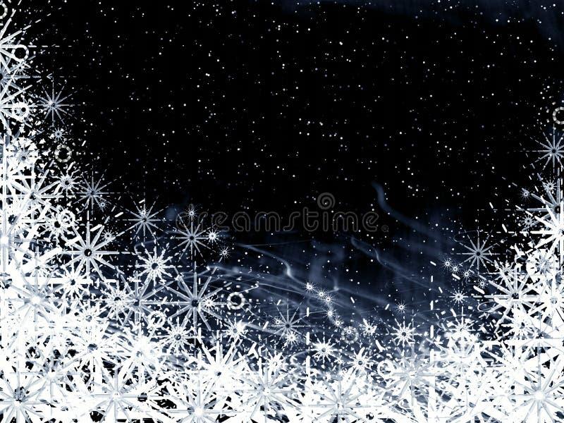Marco negro de la Navidad ilustración del vector