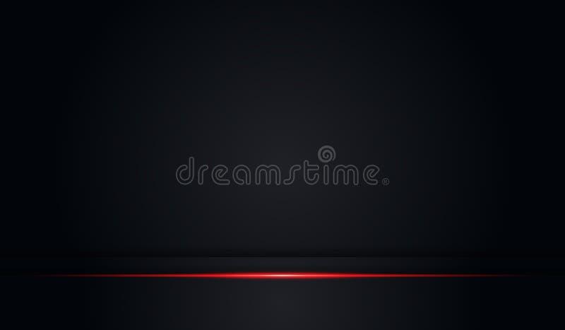 Marco negro del color brillante rojo metálico del extracto con el fondo moderno de la plantilla del vector del diseño de la tecno ilustración del vector